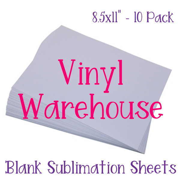 Blank Sublimation Sheets Pack