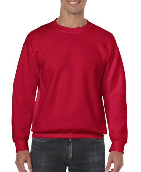 Gildan Crew Neck Sweatshirt - Cherry Red