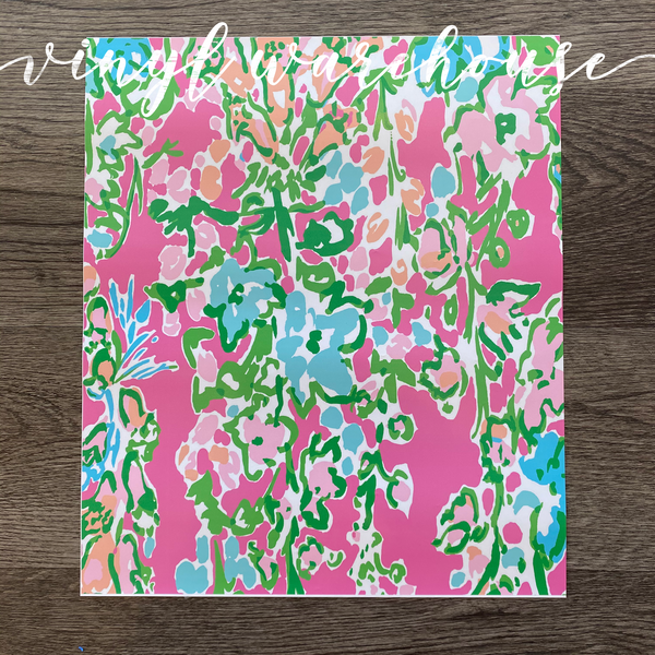 Lilly Inspired HTV - Pink Branches