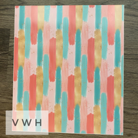 Pink/Coral/Aqua/Gold Paint Swatch HTV