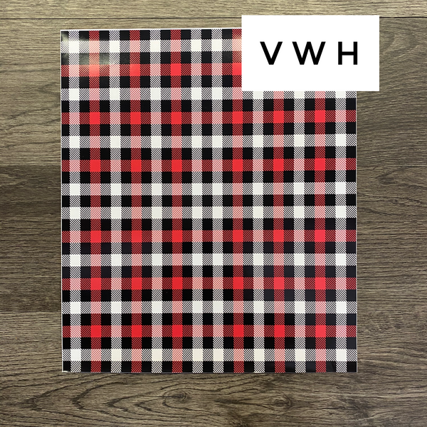 Black/Red/White Buffalo Plaid - Printed HTV