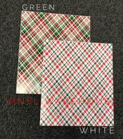 Christmas Plaid HTV