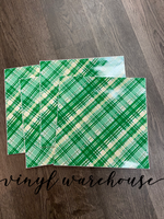 Green/Gold Plaid Adhesive