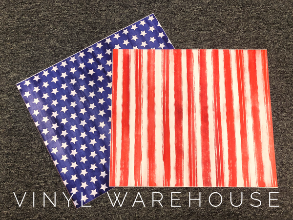 Watercolor Stars & Stripes HTV