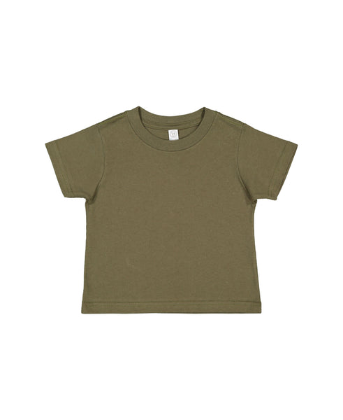 Rabbit Skins Toddler Tee - Military Green