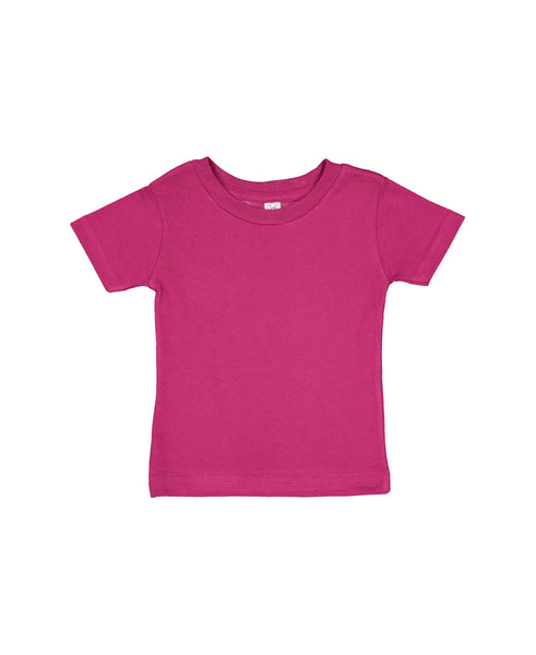 Rabbit Skins Infant Cotton Jersey Tee - Fuchsia