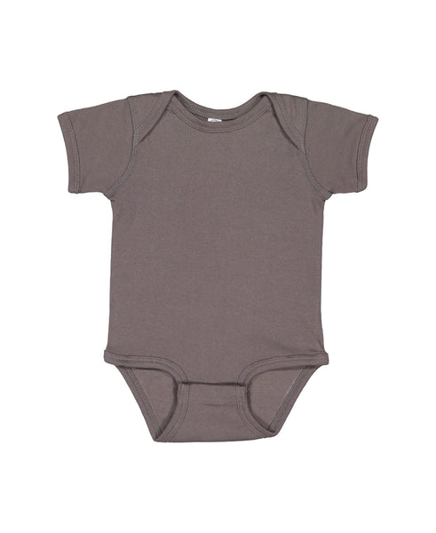 Short Sleeve Onesie - Charcoal