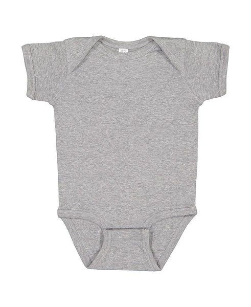 Short Sleeve Onesie - Heather Gray
