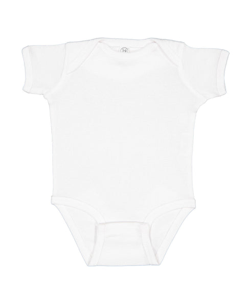 Short Sleeve Onesie - White