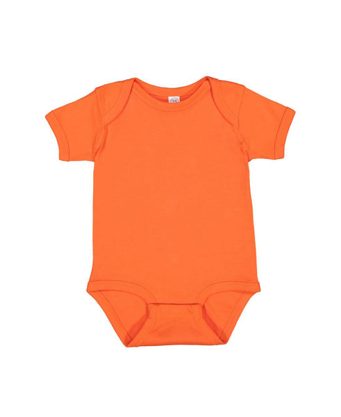 Short Sleeve Onesie - Orange
