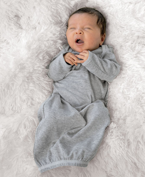 Rabbit Skins Infant Baby Rib Layette Gown