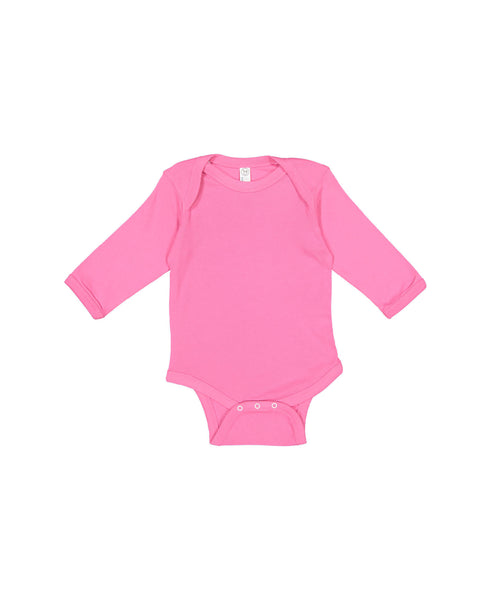 Long Sleeve Onesie - Raspberry