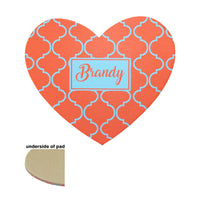 "Sublimation Blank Mousepad - 8"" x 9.5"" - Heart"
