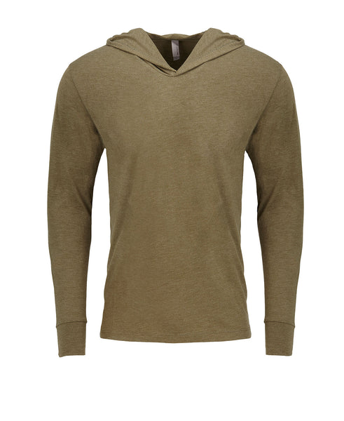 Next Level Unisex TriBlend Hooded Tee - Military Green