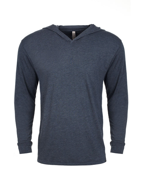 Next Level Unisex TriBlend Hooded Tee - Indigo