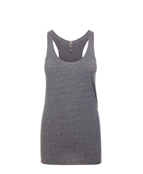 Next Level Women's Tri-Blend Racerback Tank - Premium Heather