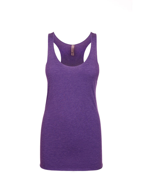 Next Level Women's Tri-Blend Racerback Tank - Purple Rush