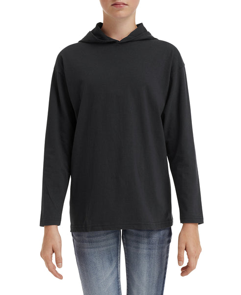 Anvil Youth Lightweight Long Sleeve Hooded Tee