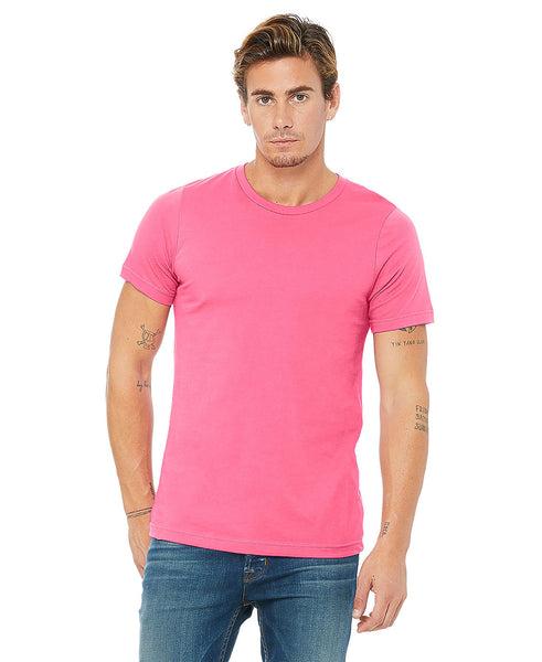 Bella + Canvas Unisex Crew Tee - Charity Pink