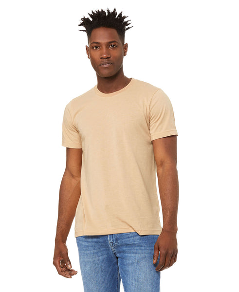 Bella + Canvas Unisex Crew Tee - Heather Sand Dune