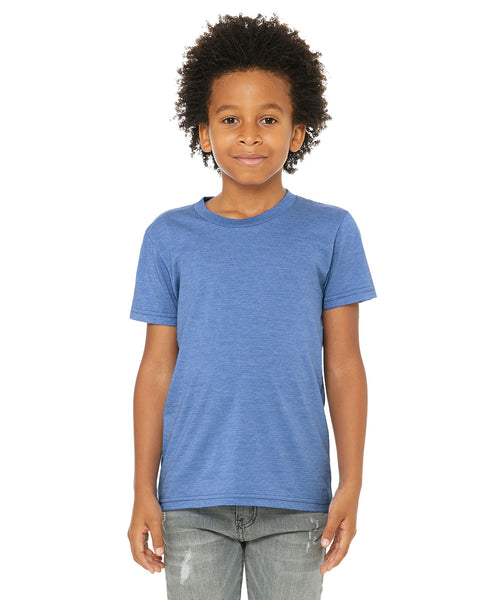 Bella + Canvas Youth Tee - Heather Colombia Blue