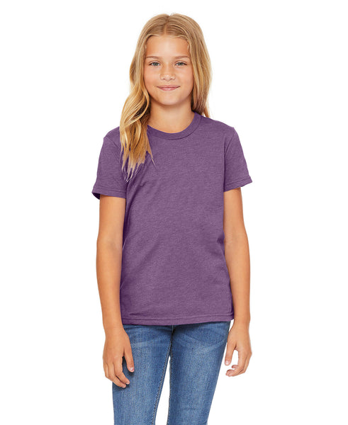 Bella + Canvas Youth Tee - Heather Team Purple