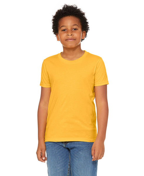 Bella + Canvas Youth Tee - Heather Yellow Gold
