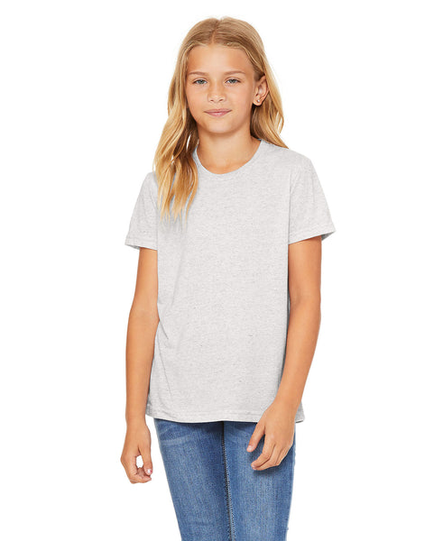 Bella + Canvas Youth Triblend Tee - White Fleck