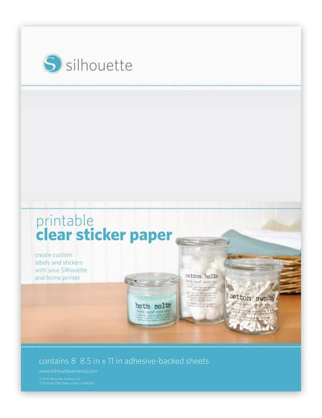 Silhouette Sticker Sheets - Clear Sticker Paper