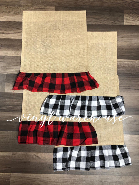 Buffalo Plaid Ruffle Garden Flag