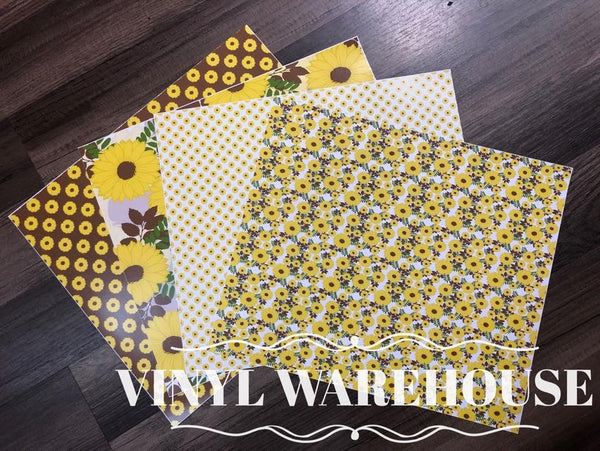 Sunflowers Adhesive Vinyl