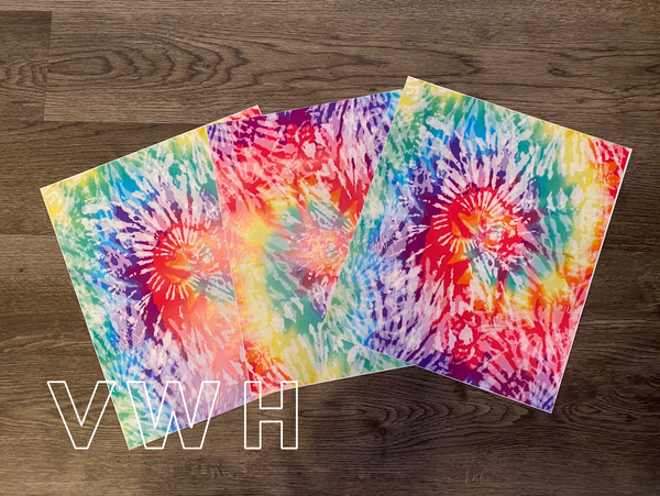 Tie Dye - White HTV (Primary Colors)