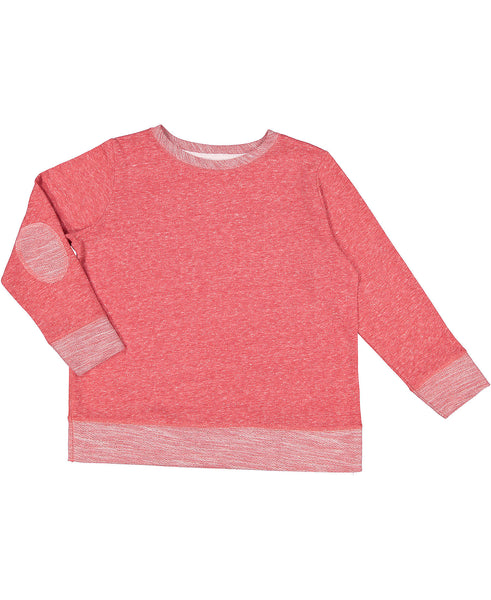 Youth Pullover with Elbow Patches - Red
