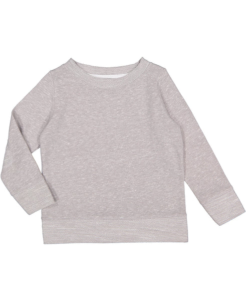 Youth Pullover with Elbow Patches - Gray