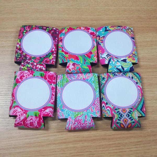 Lilly Inspired Monogram Can Coolie