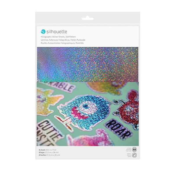Silhouette Sticker Sheets - Holographic Dots