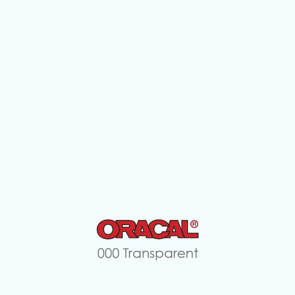 Oracal 651 - 000 Transparent Clear