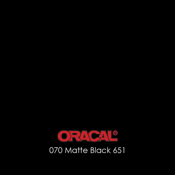 Oracal 651 - 070 Black (Matte)