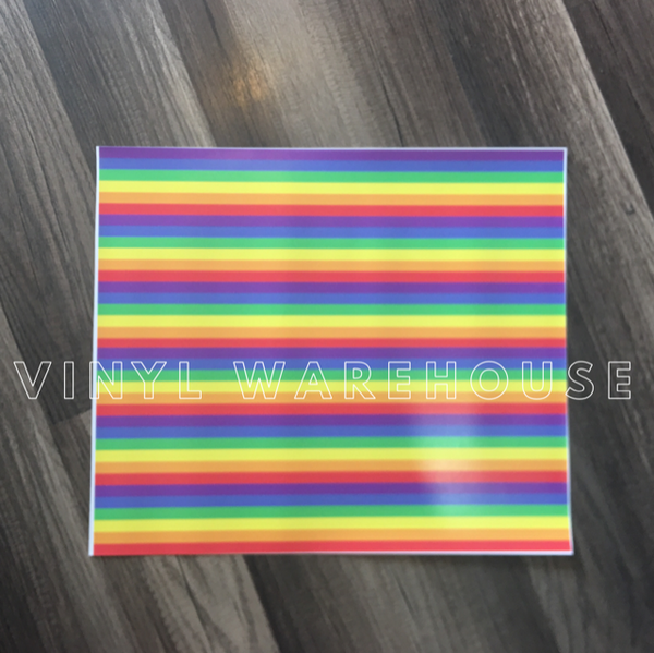 Rainbow Stripes Adhesive