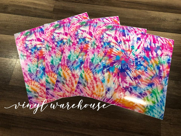 Tie Dye - White HTV (Pinks/Purples/Etc)