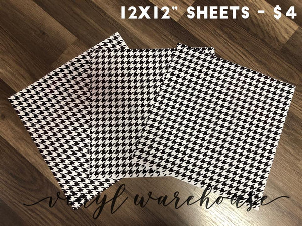 Houndstooth - Printed Adhesive