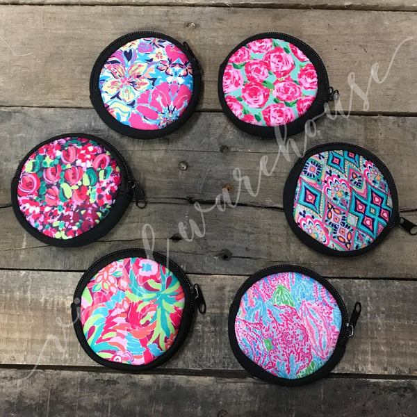 Lilly Inspired Coin Change Purse