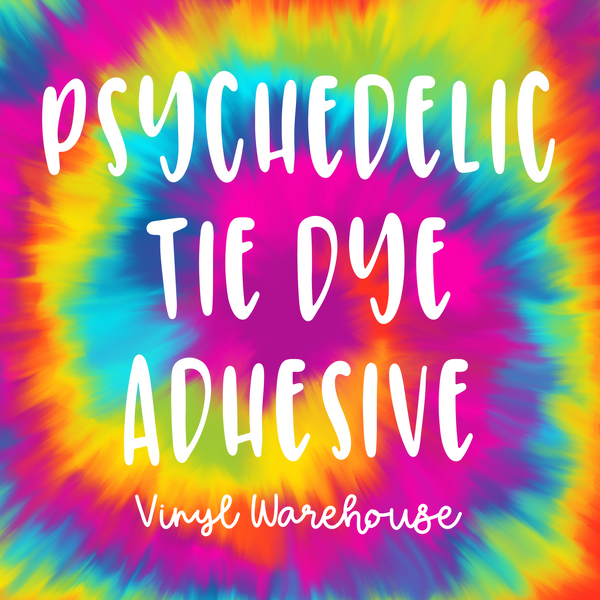 Psychedelic Tie Dye - Printed Adhesive