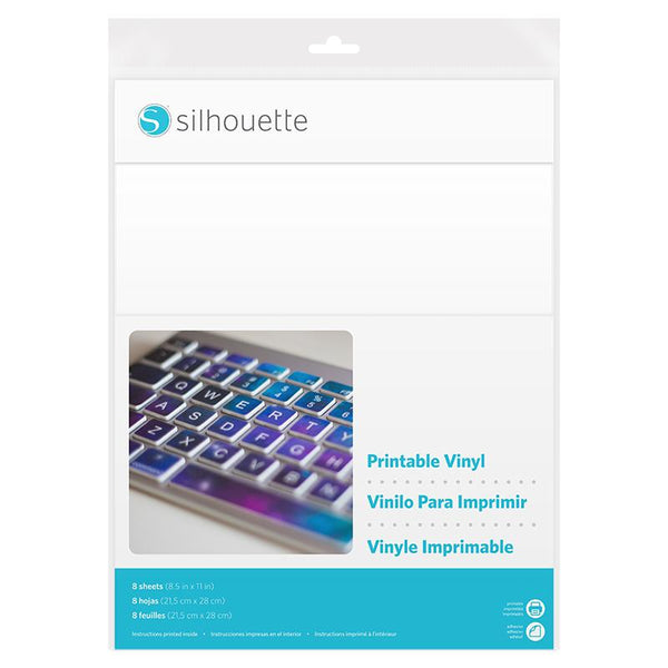 Silhouette Printable Sticker Paper - 8 Pack