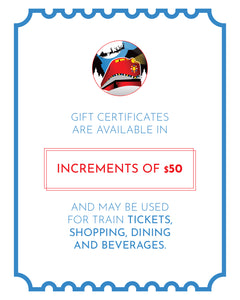 Gift Certificate - $50.00 Increments