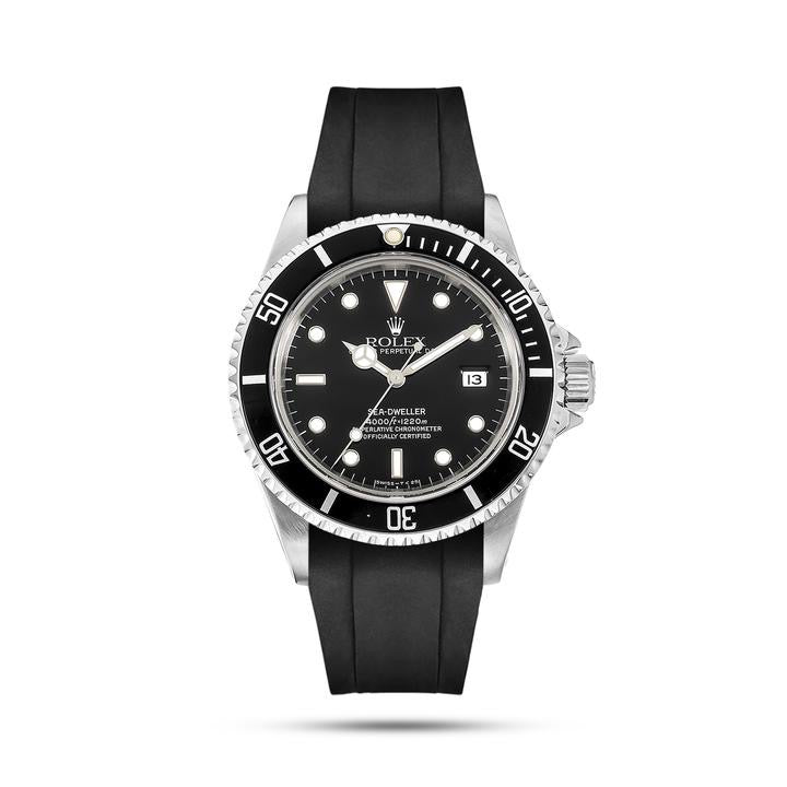 Integrated Rubber Strap For Rolex Sea Dweller - Black/Red/Blue