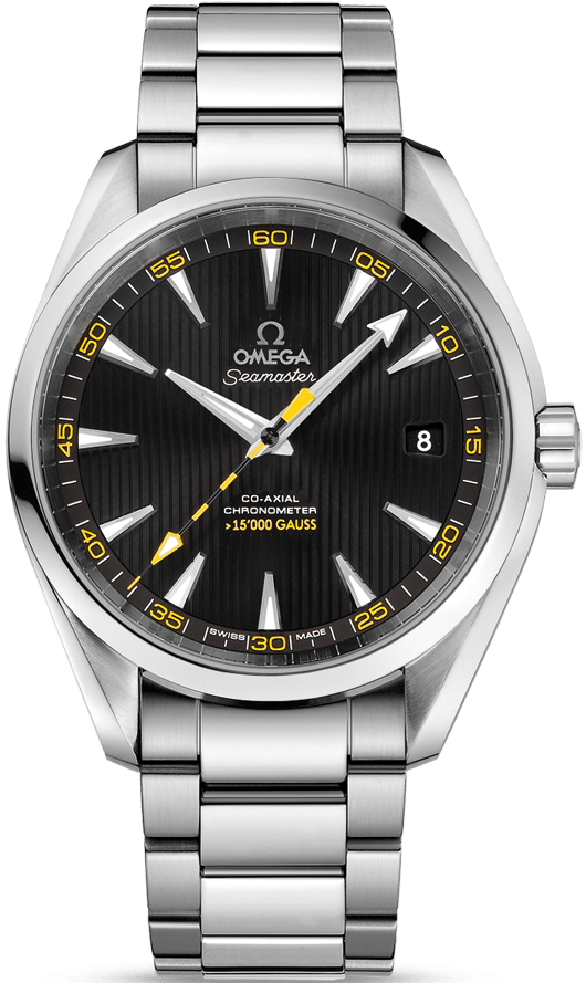 Omega Seamaster Aqua Terra Bumble Bee (2016 Pre-Owned) Excellent Condition