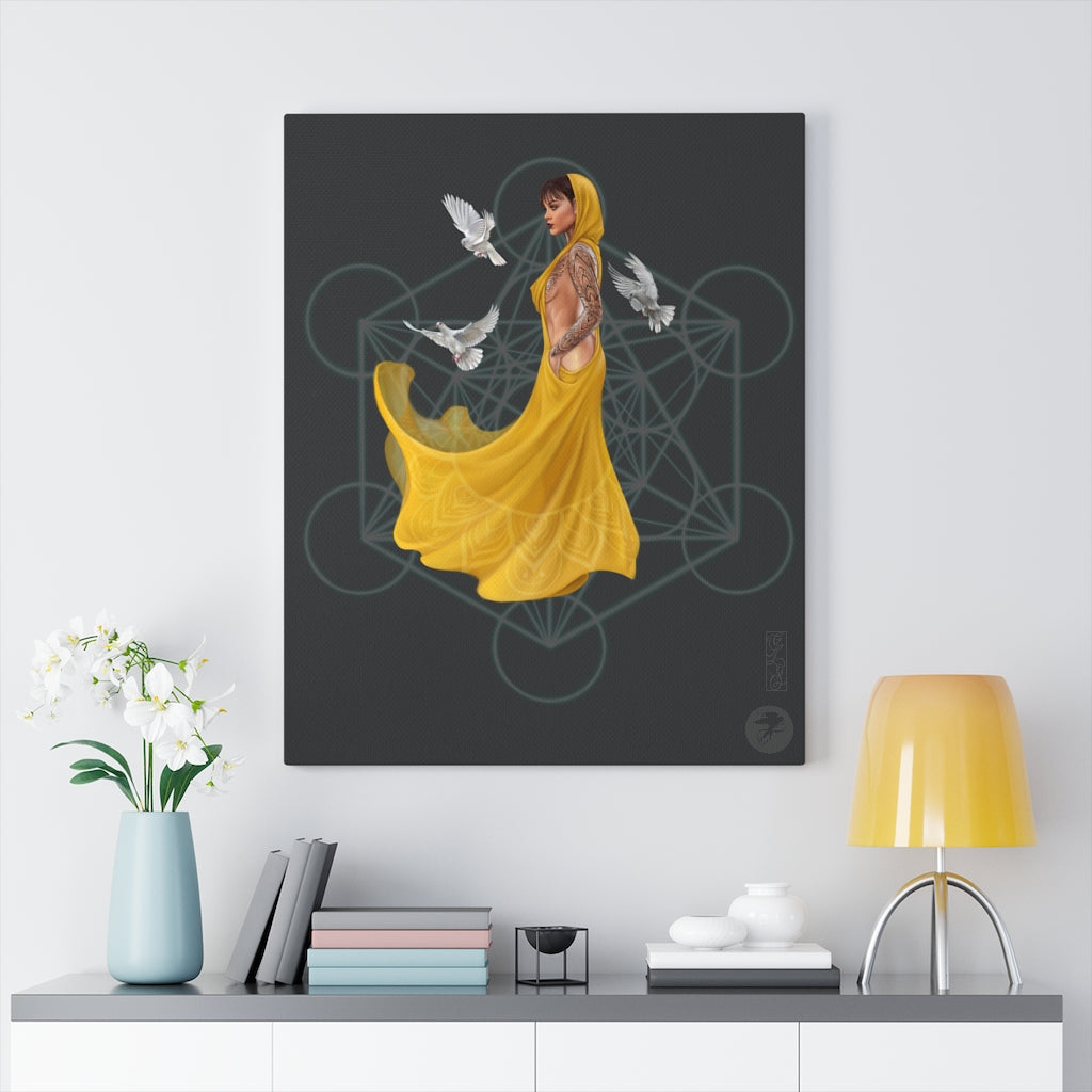 'Quantum flow' Canvas art print