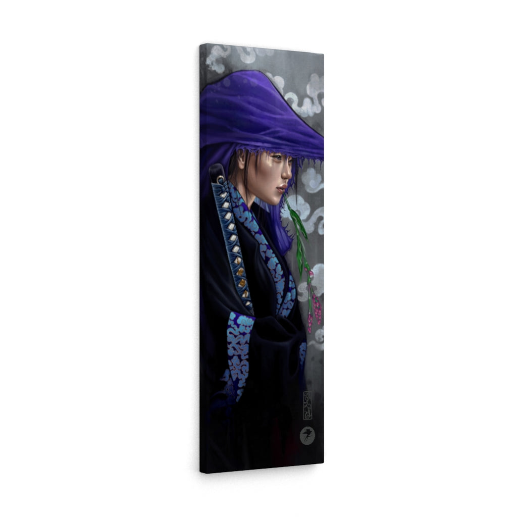Art print 'Lady Katana' premium wrapped canvas