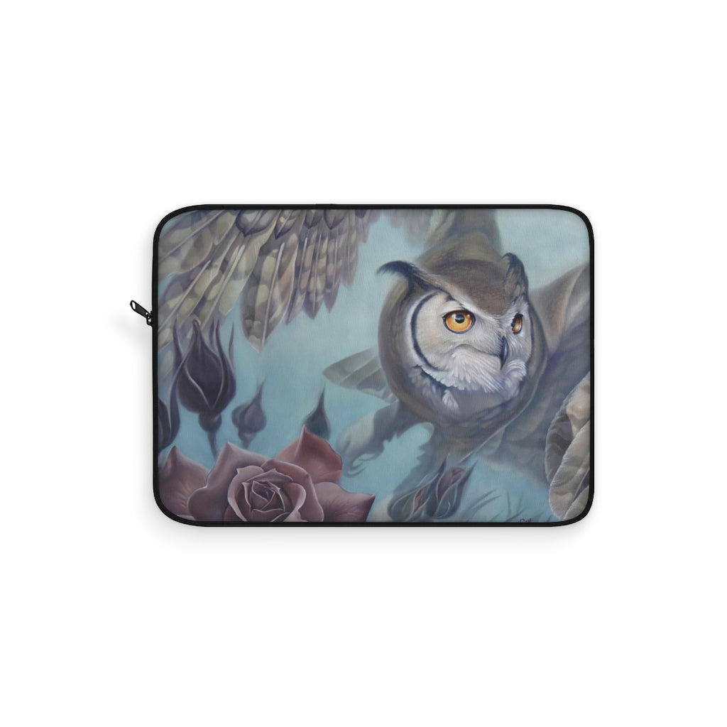 Laptop Sleeve, owl art, Rise above